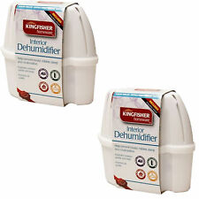 2x 1L LARGE INTERIOR DEHUMIDIFIER MOULD MILDEW DAMP MOISTURE CAR WINDOW WARDROBE