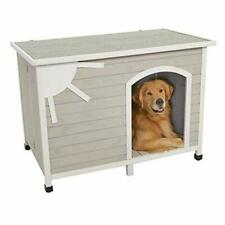 MidWest Homes for Pets Eillo Folding Outdoor Wood Dog House No Tools Required