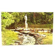 Lynchburg Tennessee Jack Daniels Statue and Spring Distillery Vintage Postcard