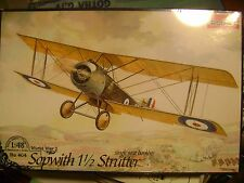 New 1:48 Sopwith 1 1/2 Strutter Wwi Biplane -Roden Ro 404 - Stretch wrapped