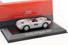 PORSCHE 550 SPYDER #130 Little hijo año fabricación 1955 PLATA METÁLICO / Rojo