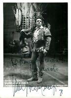 Opera - Autografo del baritono Giangiacomo Guelfi (Roma, 1924 - Bolzano, 2012)