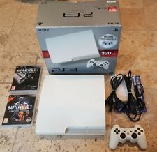 Sony PlayStation 3 Slim WHITE Console 320GB + Controller PAL Matching Serial PS3