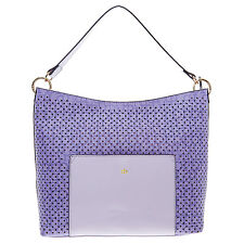 New Genuine ROCCO BAROCCO Lilac Laser Cut Hobo Bag Tote Handbag RRP£110