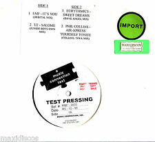 "12"" - U2 - SALOME (+ 3 TRACKS VARIOUS ARTISTS (TEST PRESSING EP RARE RMXS *PROMO"