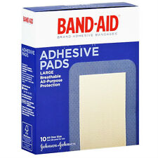 Band-Aid Large Adhesive Pads, 10/Box