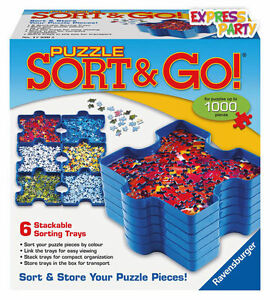 Puzzle Sort And Go 6X Stackable Trays
