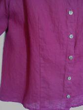 FLAX FALL SHAPELY Shirt JACKET Magenta LIGHT WEIGHT LINEN S SMALL fits M