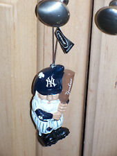 New York Yankees Gnome Ornament NIB 4 inches NY with Yankees on Bat