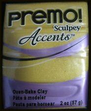 Polyform 465030 Premo Sculpey Polymer Clay 2 Ounces 18 K Gold
