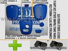 GUSCIO E INTERRUTTORI BLU PER CHIAVE TELECOMANDO 2 TASTI CITROEN C1 C2 C3