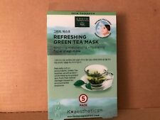 Earth Therapeutics 5 pack Refreshing Green Tea Face Masks NEW SEALED