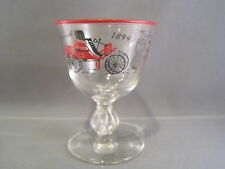 Vintage Libbey Packard 1899 Red Rim Glass for Cordials Cocktail hasRed Car