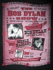 BOB DYLAN MERLE HAGGARD CONCERT T SHIRT Amos Lee Strangers 2005 Tour Tee Adult M
