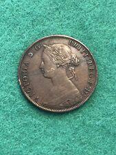 1861 Victoria HalfPenny nice high grade [MA-25]