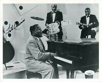 Fats Domino Blueberry Hill Blues Singer Pianist Signed Autograph Photo JSA