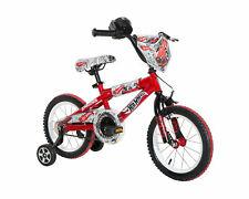"""14"""" Kids Bike - Hot Wheels, Red, Hand Brake, BMX Bike, Training Wheels, Ages 4-7"""