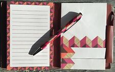 Vera Bradley Pocket Note Set in Bohemian Blooms with Pen, Notebook Sticky Notes