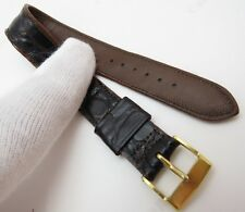"HADLEY,WW2 Era,16mm,R,40's,""Genuine Alligator"" US MADE,MEN'S WATCH BAND,B16-122"