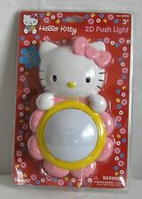 Hello Kitty 2D Flower Push Light PINK Battery Operated Sanrio 2000