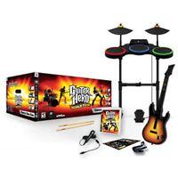 PS3 Guitar Hero WORLD TOUR BAND KIT Set FREE SHIPPING drums mic game playstation