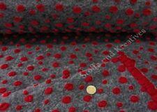 Walkstoff Noppen Strickwalk Wollfilz Walkstoff grau rot 50 cm