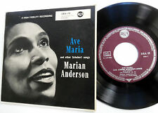 MARIAN ANDERSON 45 EP Ave Maria & Other Schubert Songs GERMAN press RCA w4344