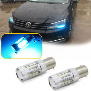 CAN-bus Ice Blue LED DRL Bulbs for 2011-2017 VW Jetta MK6 Daytime Running Lights