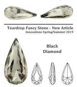 Genuine SWAROVSKI 4322 Teardrop Fancy Stones Crystals * Many Colors & Sizes