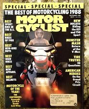 Motorcyclist September 1988 Yamaha VMX12 Ducati 851 750S Honda GL 1500 BMW R100G