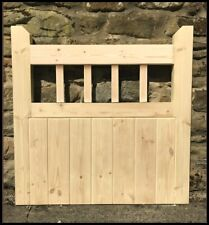 garden gate handmade wooden cottage flat top pedestrian gate mortised spindle