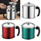 Stainless Steel Oil Strainer Pot Container Filter Oil Separator Storage Tank