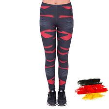 Damen Black Nano Muster bedruckte Sport Leggings Leging Jeggings Legging Leggins