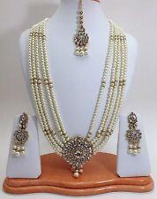 Indian Bridal Wedding Jewellery Bollywood Asian Handmade Rani Haar Necklace Set