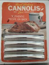 Vintage Ateco Real Italian Cannolis Metal Tubes Cannoli Forms with Recipe #660