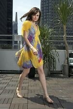 SOLDOUT Diane Von Furstenberg DVF Yellow Pink Purple Silk Jasper Dress 4