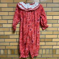 Vintage Kid's Halloween Clown Costume with Removable Neck Collar Handmade