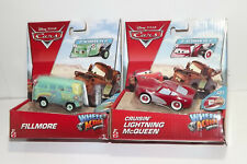 LOT OF 2 DISNEY PIXAR CARS WHEEL ACTION DRIVERS MCQUEEN AND FILLMORE NEW