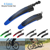 Retractile Road Mountain Bicycle Tyre Mud Guards with LED Taillight for Most Mountain Bike Dilwe Mudguard Fenders Set