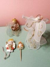 VINTAGE Choir Angels Tulle Pipe Cleaner Chenille Spun Cotton Christmas Ornaments