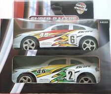 HOT RODS SUPER RACERS IN WHITE, RED, YELLOW & GREEN (2 CARS)  BNIB + FREE GIFT