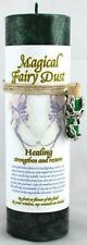Healing Pillar Candle with free Fairy Dust Necklace Wicca Wiccan FREE SHIPPING