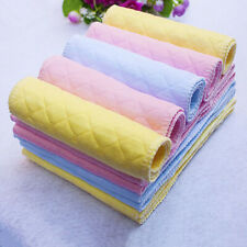 10PCS Cotton Cloth Newborn Nappy Baby Diapers Washable Inserts Liners 3 Layers