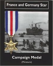 REPRODUCTION France and Germany Star Miniature British War Medal 20mm *[CMFGS]