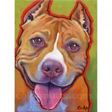 Smiling Red Nose Pit Bull Print 8x10 by Lynn Culp (LC018P) - Free Shipping