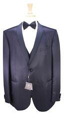 NWT New * CORNELIANI * Black Wool-Silk Sharkskin Shawl 3-Pc Slim Tuxedo Suit 50R