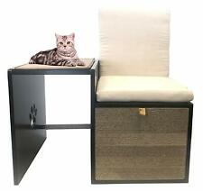 Penn Plax Cat Walk Love Seat with Scratching Post & Pad Plus Cushioned Hide-Away
