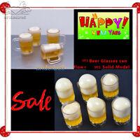 "10PCS 1/6 Beer Glasses Scenery Accessories Solid/Liquid Flow Model F 12"" Figure"