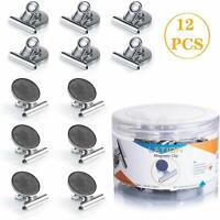 Aimant de Réfrigérateur Clips Pinces Magnet 12 pièces Multifonctionnel Frigo