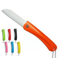 """Cuchillo Fruta Plegable Cerámico 3""""inch Cuchillos de Cocina Cubiertos con Cadena"""